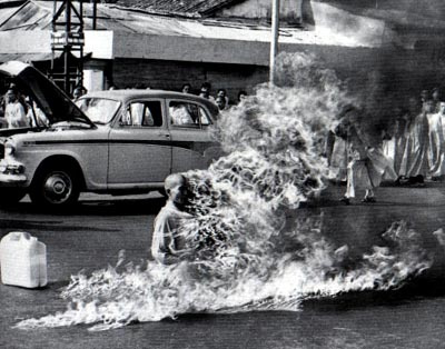 Vietnamese Monk Self Immolation